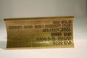 Concave Hot Stamping Die - Brass